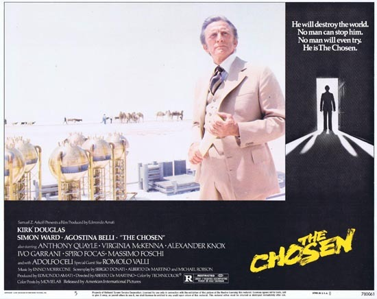 THE CHOSEN 1978 Lobby Card 5 Kirk Douglas Horror