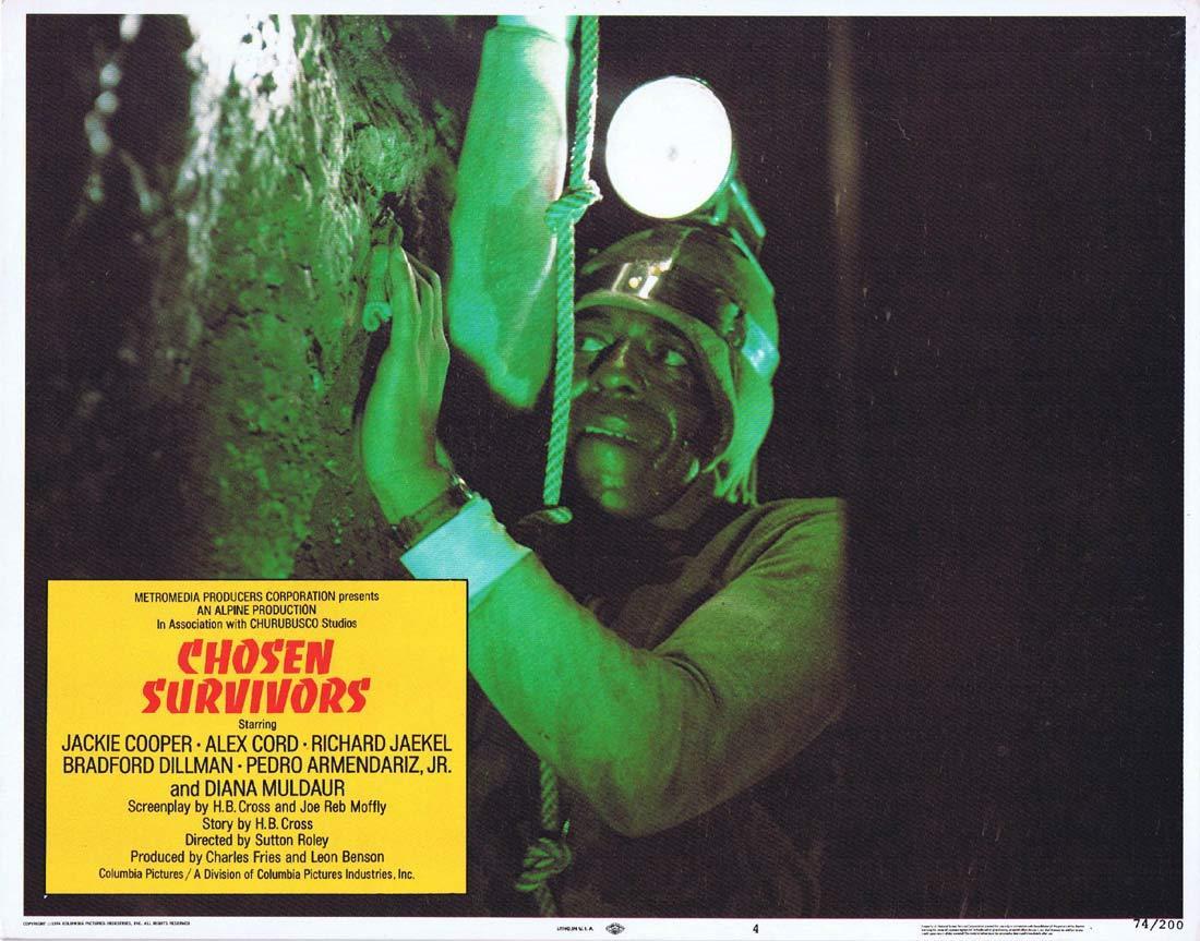 CHOSEN SURVIVORS Original Lobby Card 4 Jackie Cooper Alex Cord