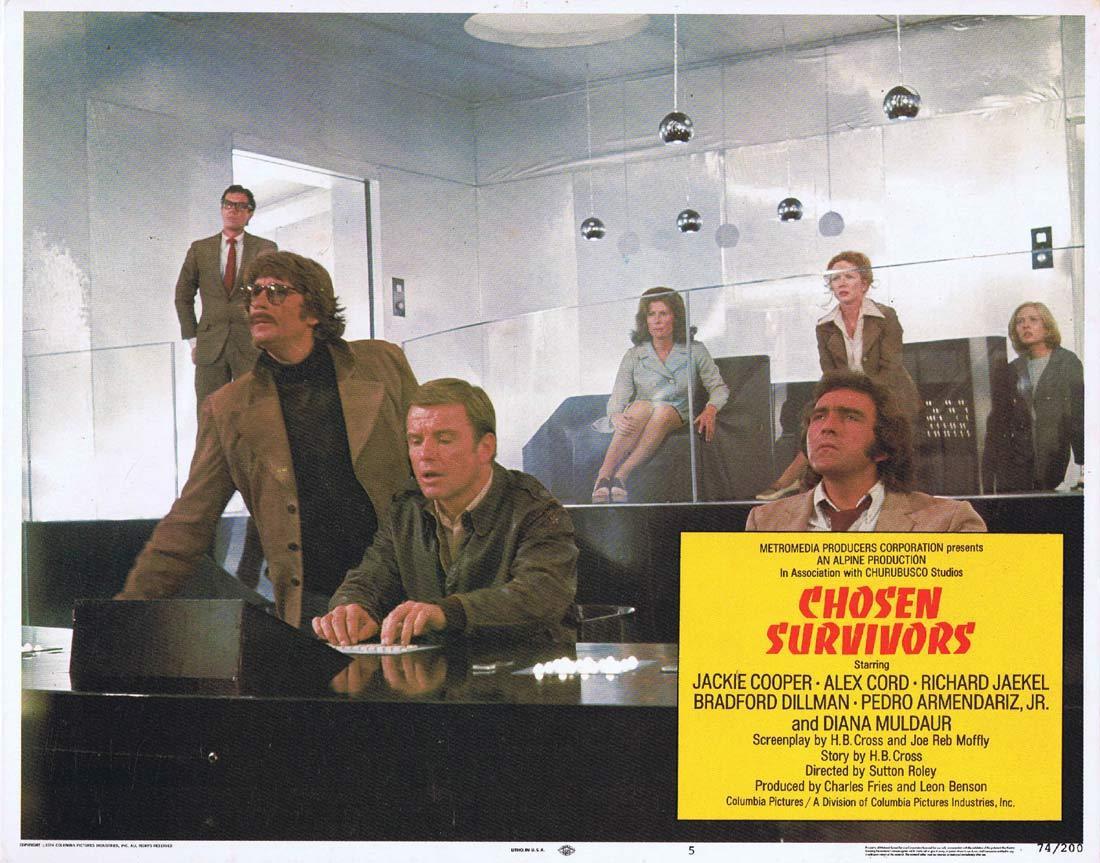 CHOSEN SURVIVORS Original Lobby Card 5 Jackie Cooper Alex Cord