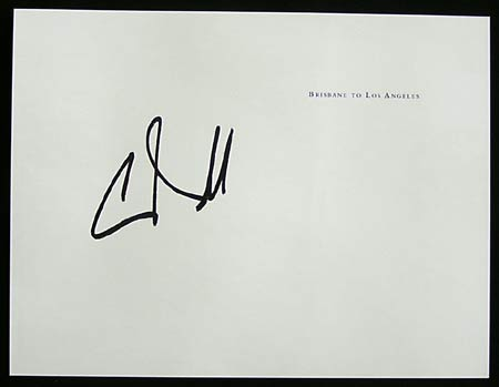 CHRIS O'DONNELL Authentic Movie Star Autograph