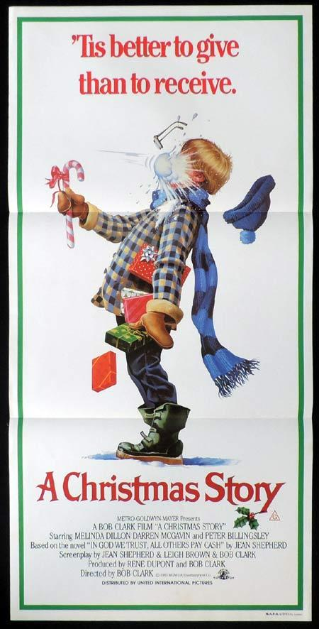 A CHRISTMAS STORY Original Daybill Movie Poster Peter Billingsley