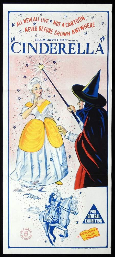 CINDERELLA Original Daybill Movie Poster Colubia Pictures Wicked Witch