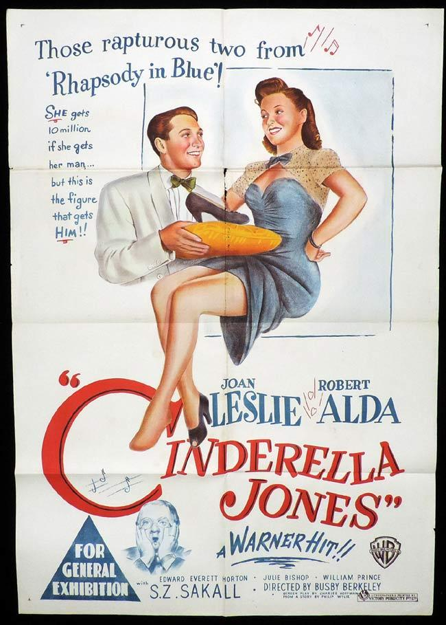 CINDERELLA JONES Original One sheet Movie Poster JOAN LESLIE Robert Alda