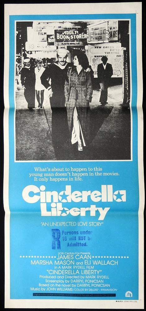 CINDERELLA LIBERTY Original daybill Movie Poster James Caan Marsha Mason