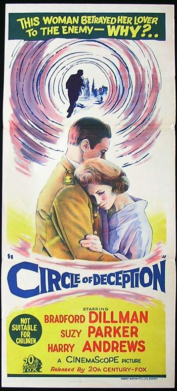 CIRCLE OF DECEPTION Original daybill Movie poster Bradford Dillman