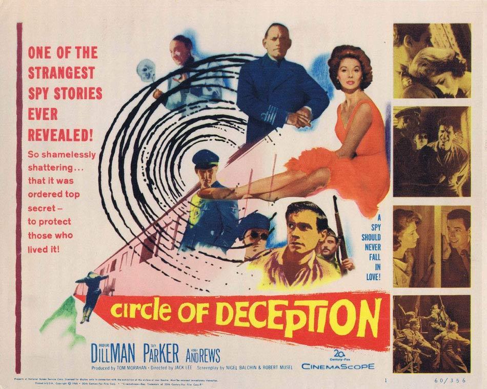 CIRCLE OF DECEPTION Title Lobby Card Bradford Dillman Kay Parker