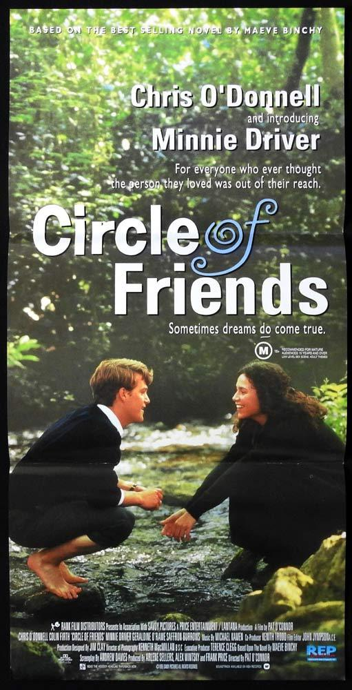 CIRCLE OF FRIENDS Original Daybill Movie Poster Chris O'Donnell Minnie Driver