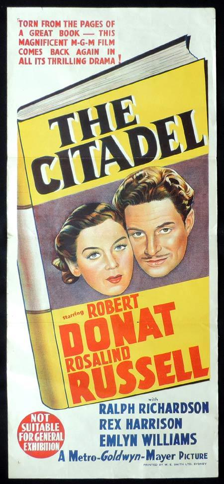 THE CITADEL Original Daybill Movie Poster Rosalind Russell Robert Donat