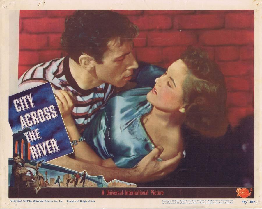 CITY ACROSS THE RIVER Lobby Card 2 Film Noir Stephen McNally