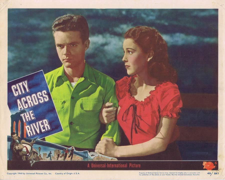 CITY ACROSS THE RIVER Lobby Card 6 Film Noir Stephen McNally