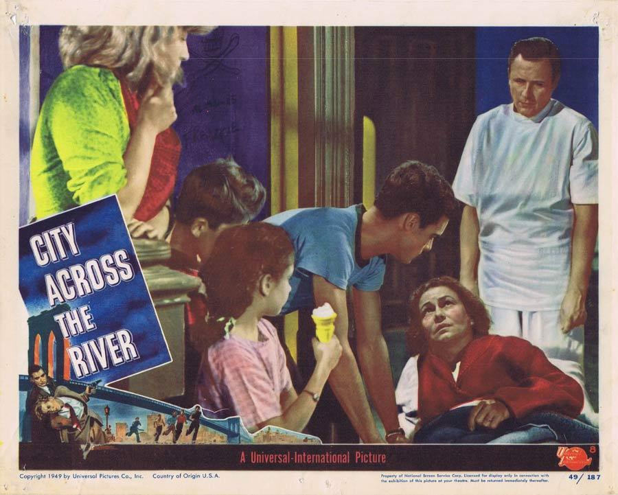 CITY ACROSS THE RIVER Lobby Card 8 Film Noir Stephen McNally
