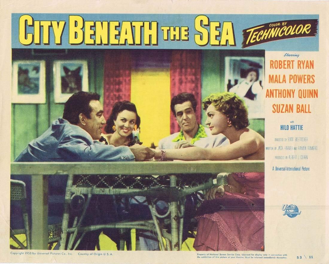 CITY BENEATH THE SEA Lobby card 4 Robert Ryan Sci Fi