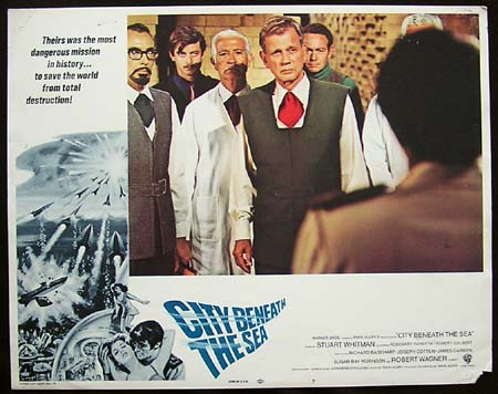 CITY BENEATH THE SEA '71-Joseph Cotten ORIGINAL US Lobby card #7