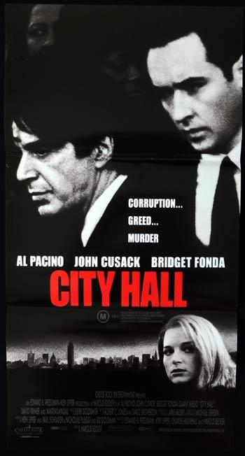 CITY HALL Daybill Movie poster John Cusack Al Pacino