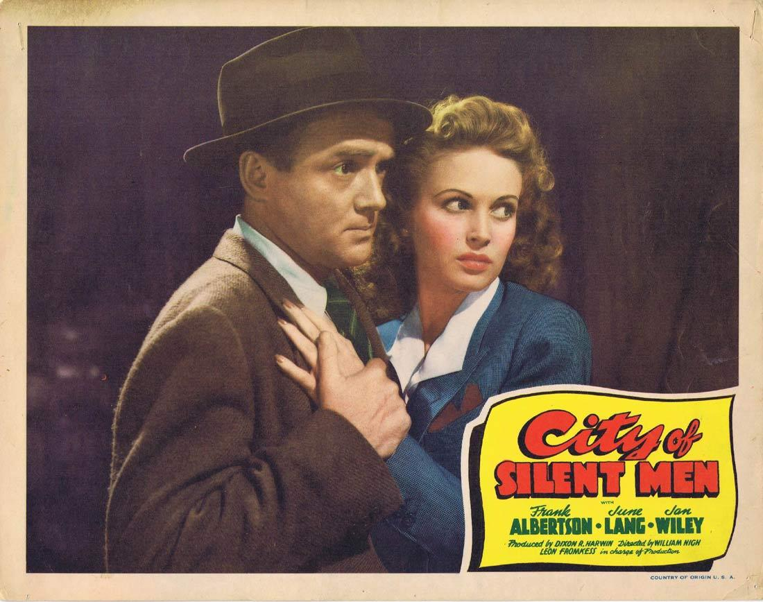 CITY OF SILENT MEN Vintage Lobby Card 2 Frank Albertson June Lang Jan Wiley