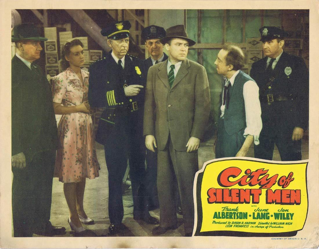 CITY OF SILENT MEN Vintage Lobby Card 3 Frank Albertson June Lang Jan Wiley