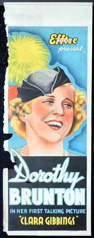 CLARA GIBBINGS Original Daybill Movie Poster DOROTHY BRUNTON 1938 F.W.Thring
