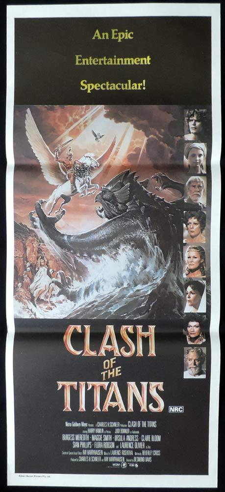 CLASH OF THE TITANS Original daybill Movie poster Harry Hamlin
