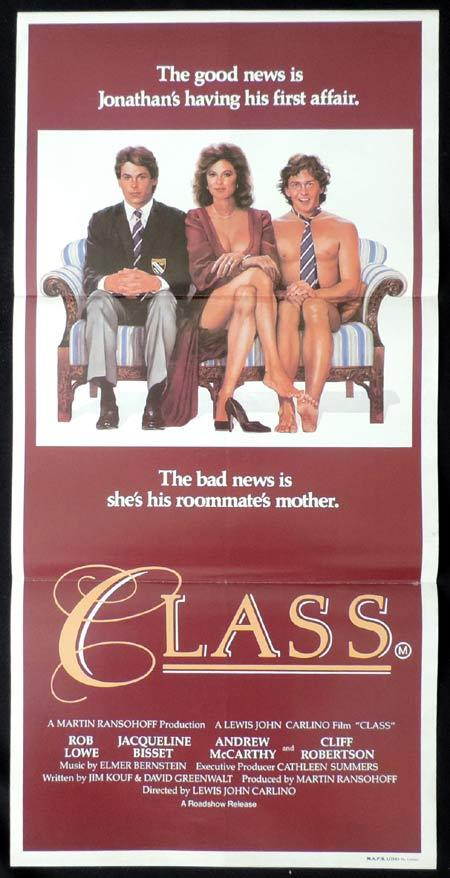 CLASS Original Daybill Movie Poster Rob Lowe Jacqueline Bisset