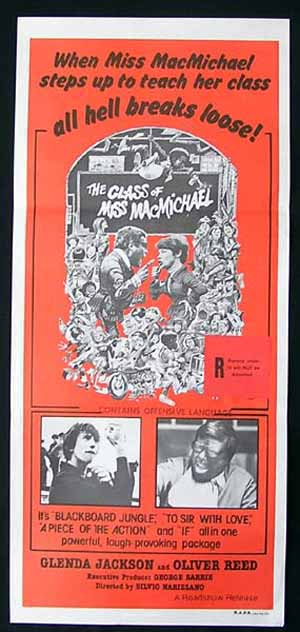 CLASS OF MISS MacMICHAEL Daybill Movie poster Glenda Jackson