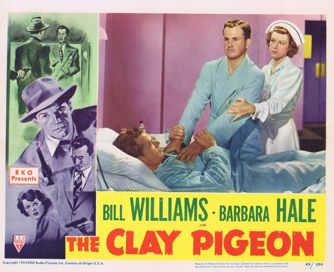 THE CLAY PIGEON Lobby Card 5 Bill Williams Barbara Hale Richard Quine