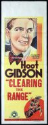 CLEARING THE RANGE Long Daybill Movie poster Hoot Gibson Sally Eilers