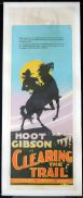 CLEARNG THE TRAIL Long Daybill Movie poster 1928 Hoot Gibson