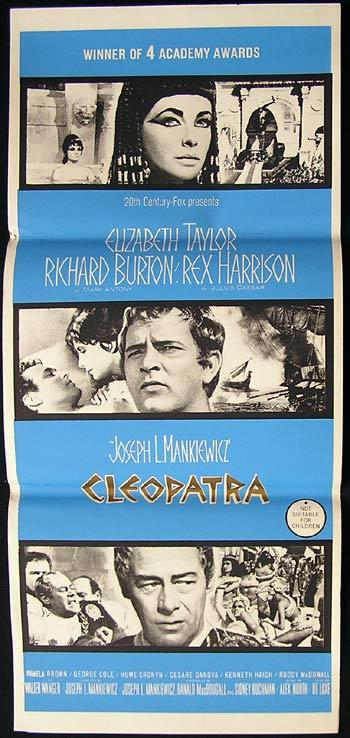 CLEOPATRA Original Daybill Movie Poster 1963 Elizabeth Taylor