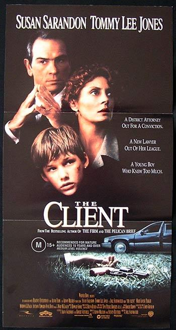CLIENT Movie Poster 1994 Tommy Lee Jones John Grisham daybill