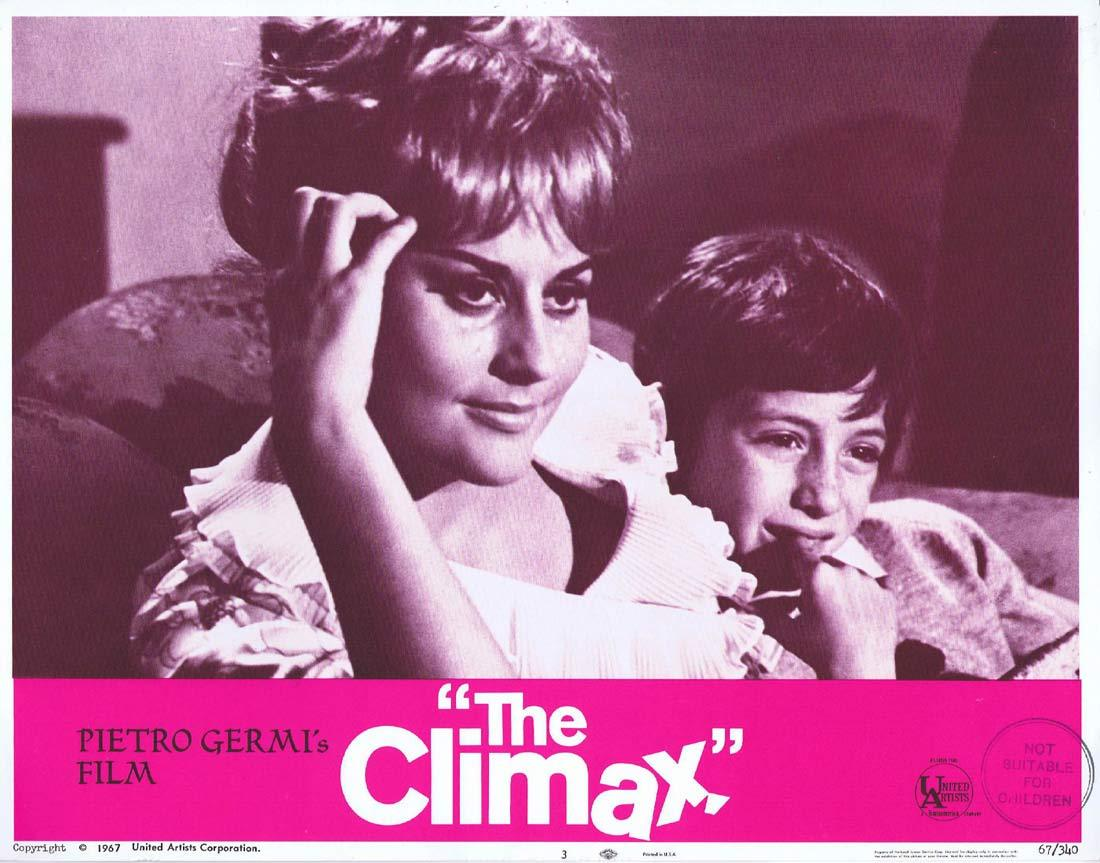 THE CLIMAX Original Lobby Card 3 Ugo Tognazzi Stefania Sandrelli
