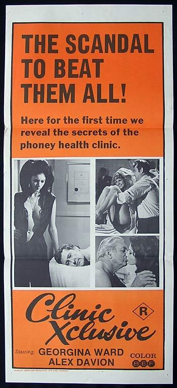 CLINIC XCLUSIVE '71 Georgina Ward Sexploitation Movie Poster