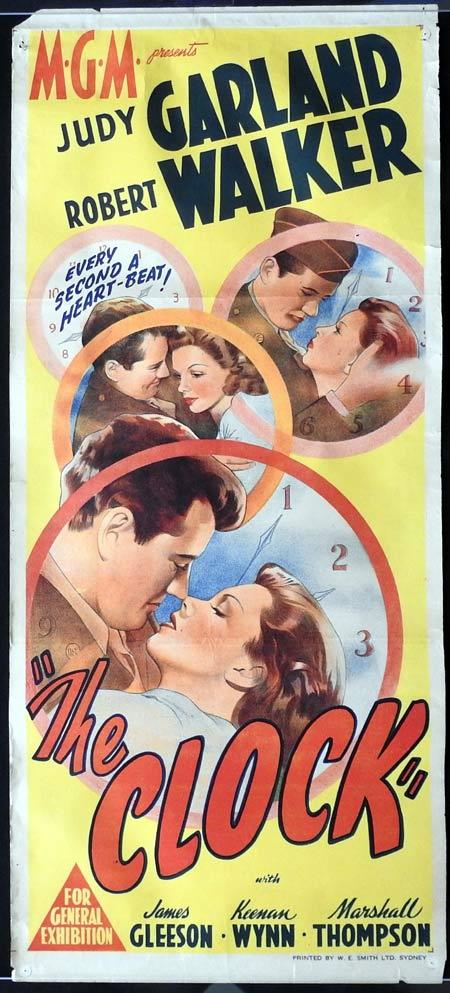 THE CLOCK Original daybill Movie Poster Judy Garland Robert Walker