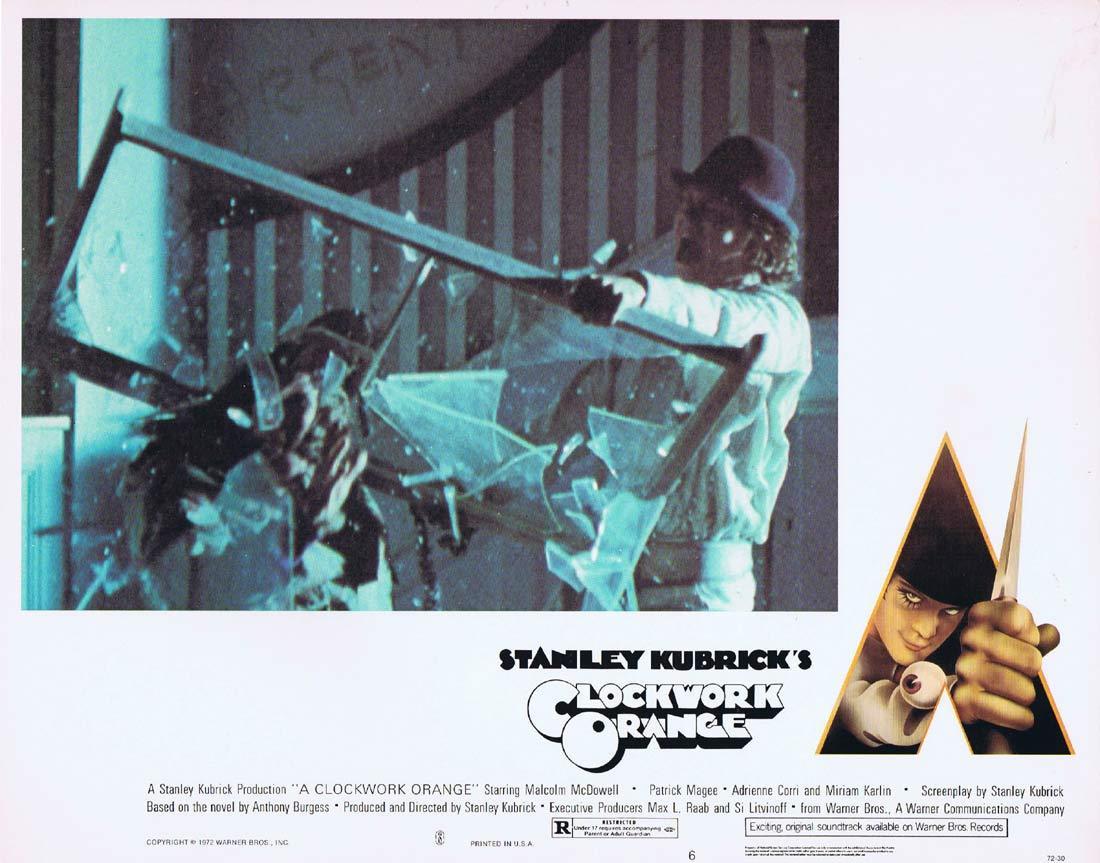A CLOCKWORK ORANGE Lobby card 6 Stanley Kubrick