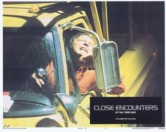 CLOSE ENCOUNTERS OF THE THIRD KIND 1977 Lobby Card 6 UFO ALIEN Stephen Speilberg