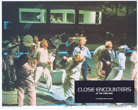 CLOSE ENCOUNTERS OF THE THIRD KIND 1977 Lobby Card 7 UFO ALIEN Stephen Speilberg