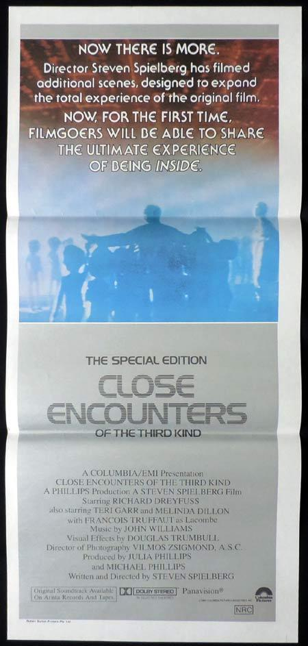 CLOSE ENCOUNTERS OF THE THIRD KIND SPECIAL EDITION Original daybill Movie Poster