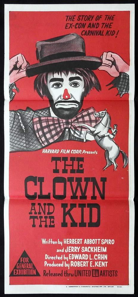 THE CLOWN AND THE KID Original Daybill Movie Poster John Lupton Michael McGreevey