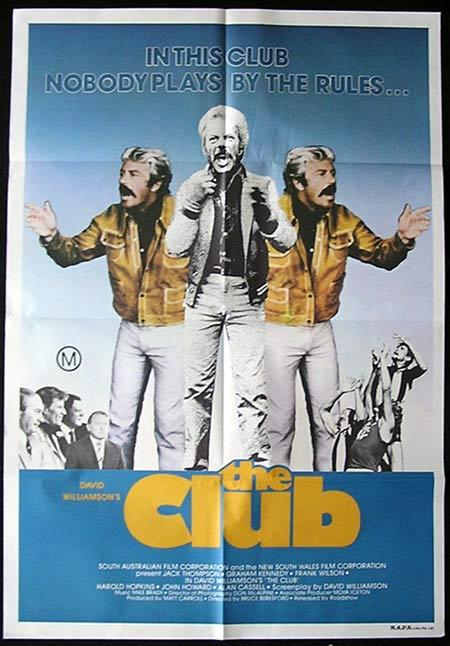 THE CLUB One sheet Movie poster 1980 Collingwood Graham Kennedy