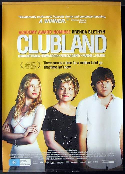 CLUBLAND Movie poster 2006 Steve Bastoni Australian Cinema One sheet