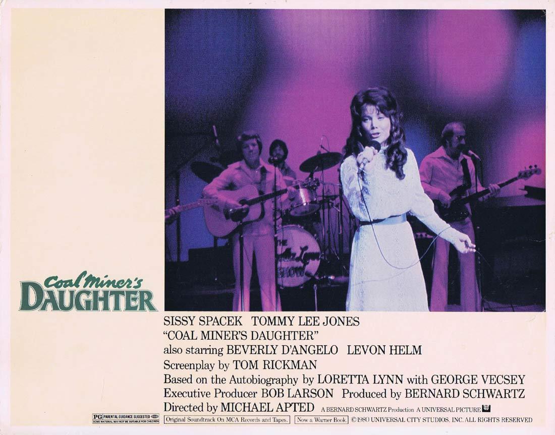 COAL MINERS DAUGHTER Original Lobby Card Sissy Spacek Tommy Lee Jones