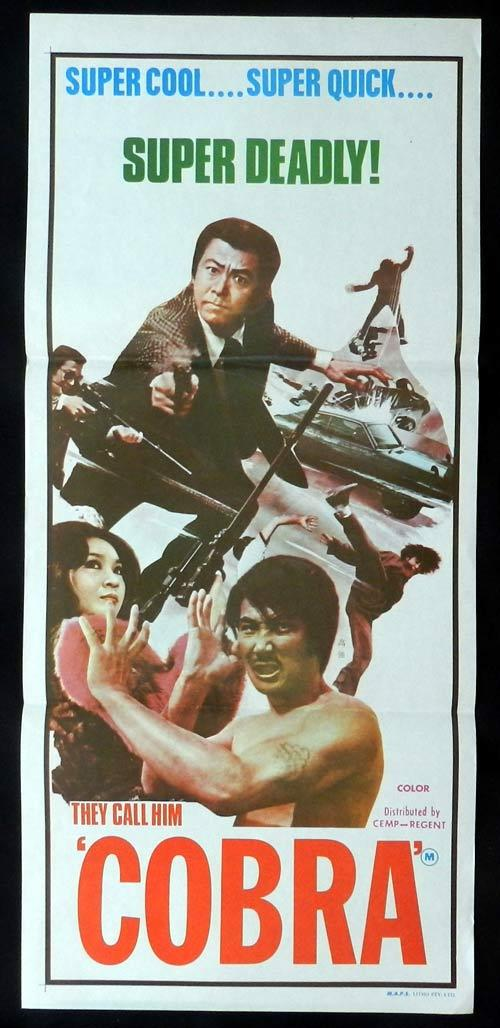 COBRA Daybill Movie poster Kung Fu Martial Arts