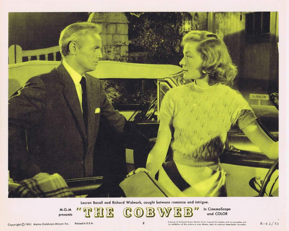 THE COBWEB Lobby Card 2 Richard Widmark Lauren Bacall Charles Boyer