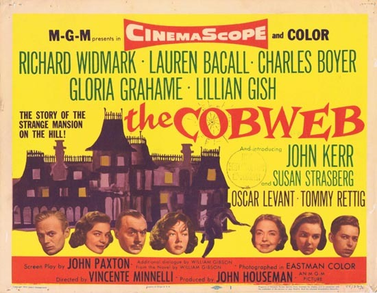 THE COBWEB 1955 Lauren Bacall Title Lobby card