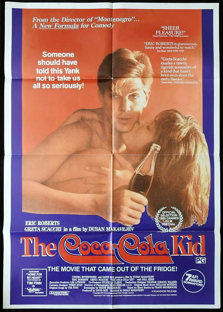 THE COCA COLA KID One sheet Movie poster Eric Roberts Greta Scacchi