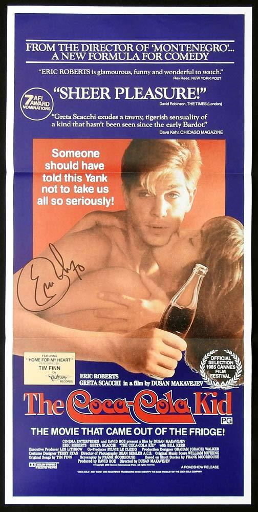 THE COCA COLA KID Original Daybill Movie Poster ERIC ROBERTS Autograph