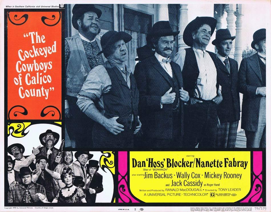 THE COCKEYED COWBOYS OF CALICO COUNTY Lobby Card 2 Dan Blocker Nanette Fabray Mickey Rooney