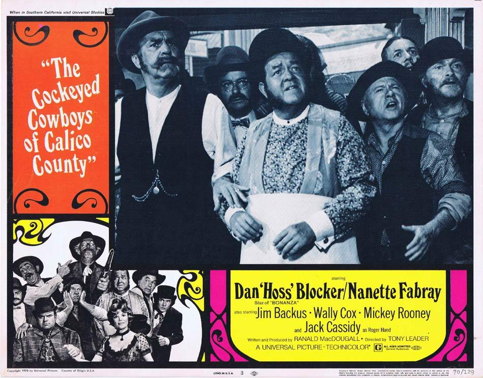 THE COCKEYED COWBOYS OF CALICO COUNTY Lobby Card 3 Dan Blocker Nanette Fabray Mickey Rooney