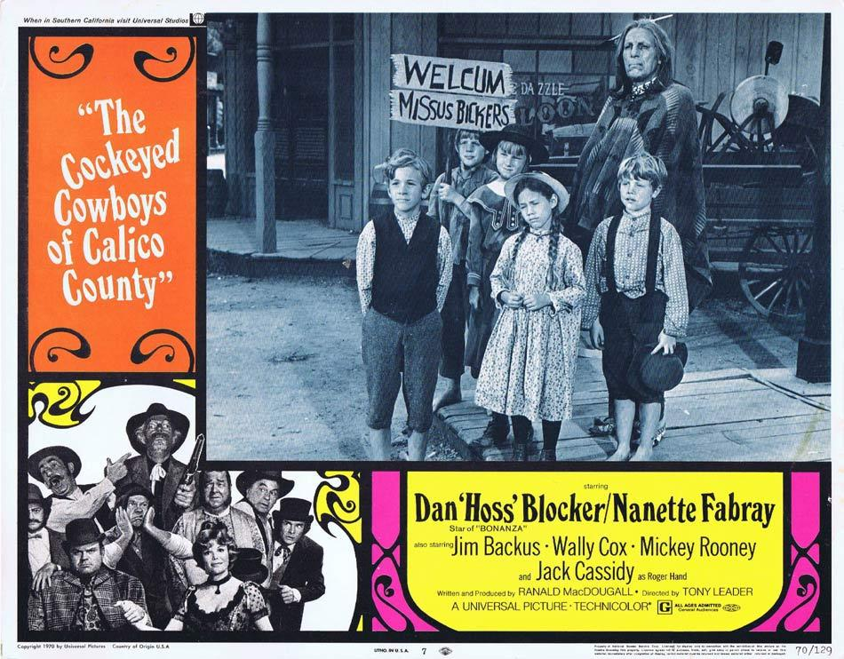 THE COCKEYED COWBOYS OF CALICO COUNTY Lobby Card 7 Dan Blocker Nanette Fabray Mickey Rooney