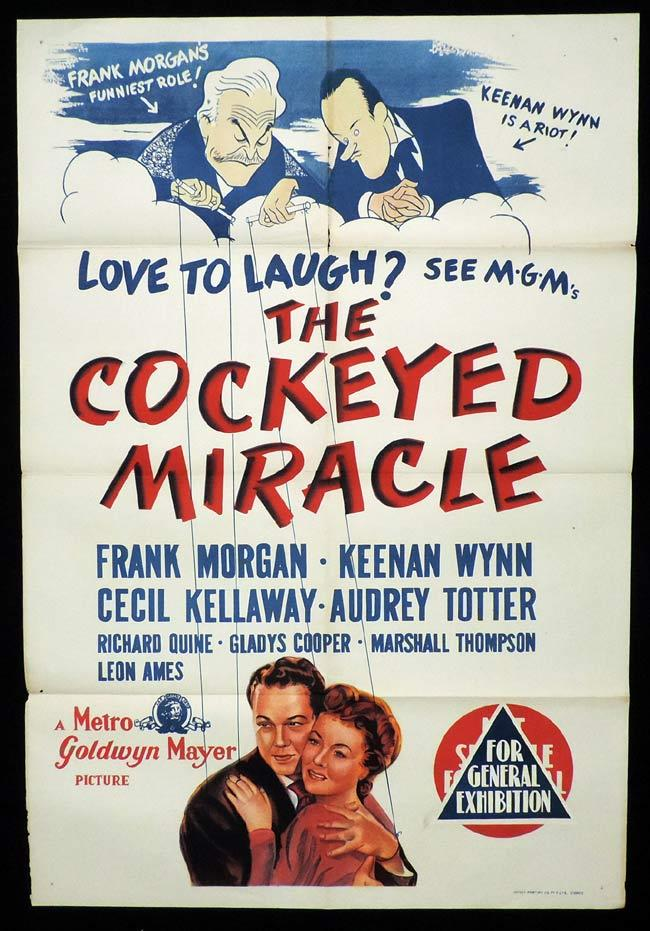 THE COCKEYED MIRACLE Original One sheet Movie Poster FRANK MORGAN Keenan Wynn