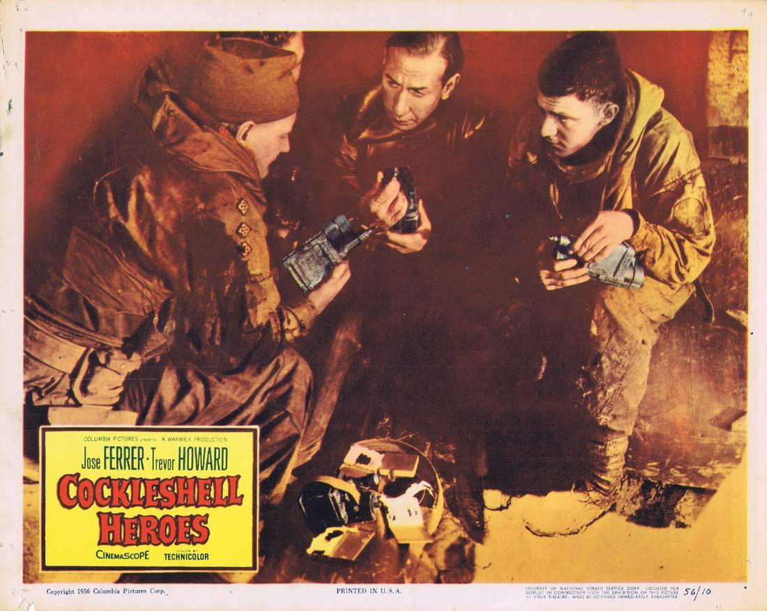 COCKLESHELL HEROES Original Lobby Card Trevor Howard Anthony Newley David Lodge